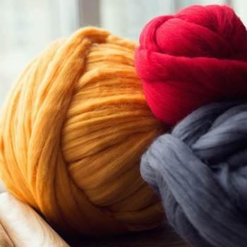 Wholesale Australian Merino Wool Tops Giant Yarn With 66s Chunky