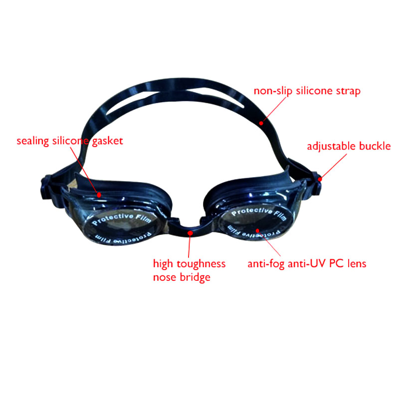 Professional factory design waterproof Impact-resistant diving silicone swimming goggles,shatter resistant swim goggles