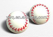 baseball shape bouncy ball