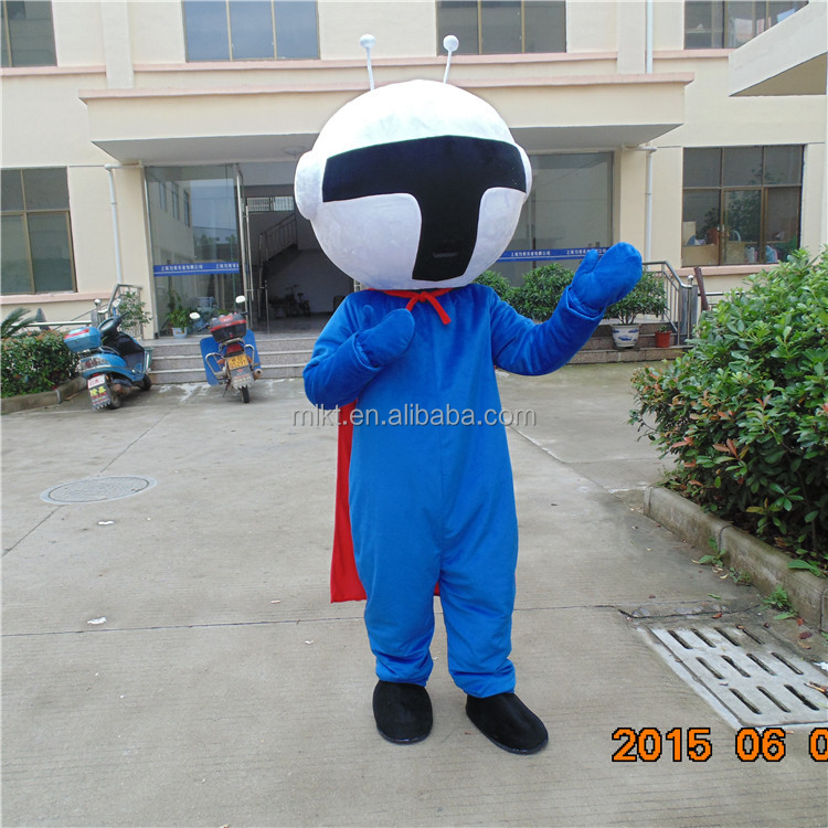 China factory professional design adult blue santa costume