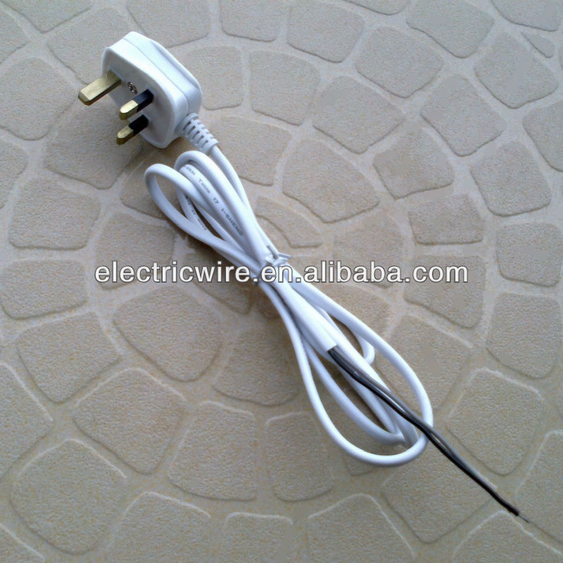 Hot Sale 3-pin UK Plug with VDE 2C/3C Flexible Power Cable Wire
