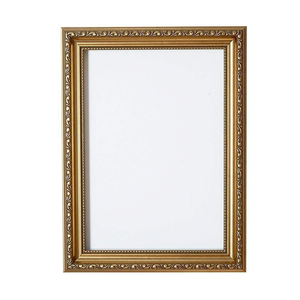 "Paintings Frames Ornate Shabby Chic Picture Frame Photo Frame Poster Frame With High Clarity Styrene Shatterproof Perspex Sheet & MDF Backing Board Size 6""X4"" Gold"