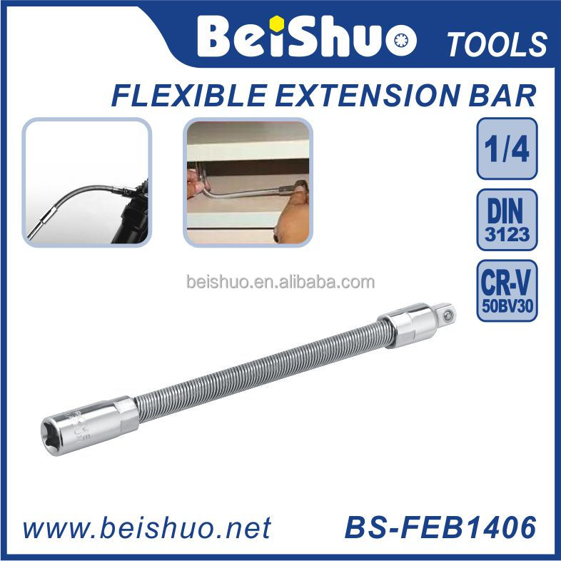 "BS-FB1406 Auto Repair Hand Tools 1/4"" 150mm Adjustable Rachet Wrench/Flexible Extension Bar"