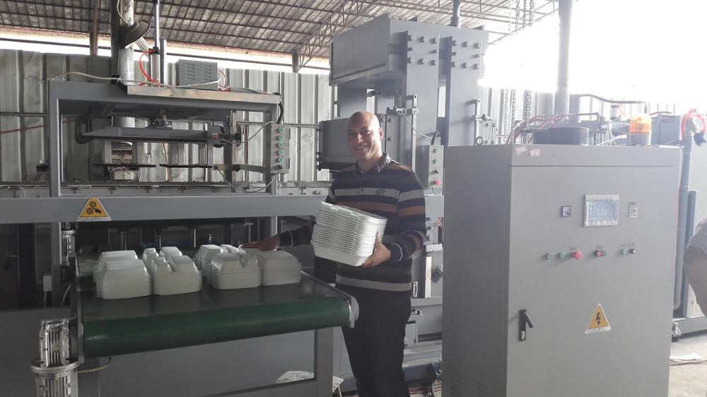 china famous brand PS fast food container and tray foam disposable tableware machine production line