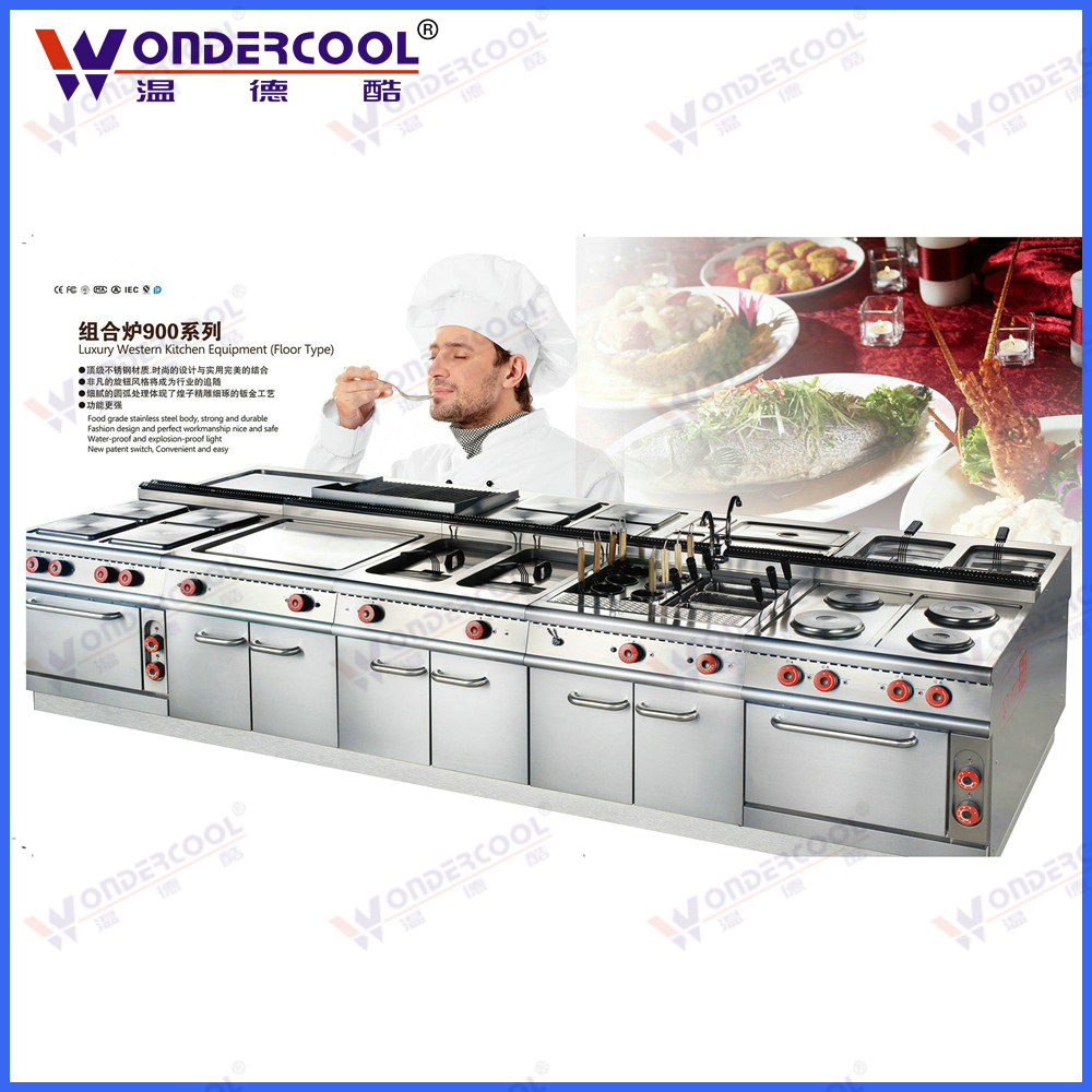 New style stainless steel modern western commercial kitchen equipment
