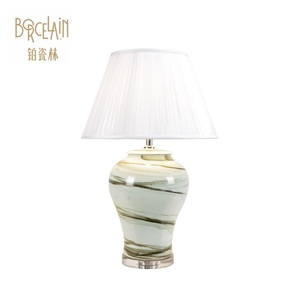 Chinese ceramics table lamp cheap folding handmade small lamp shades for table lamps