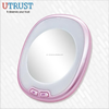 LED lighting handheld cosmetic stand hand mirror on sale