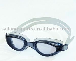 Adult swimming goggles,PVC swim goggles with low profits,one piece frame