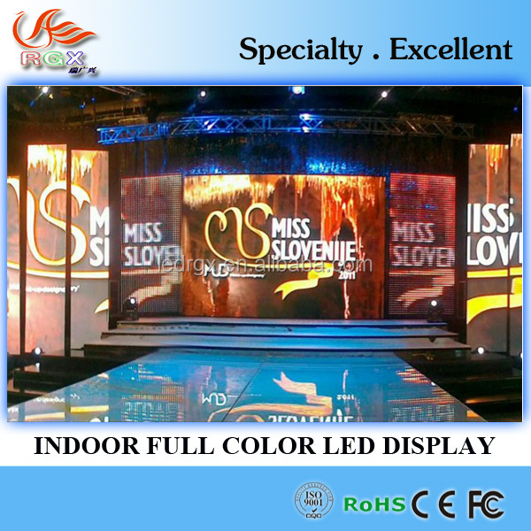 RGX indoor smd advertising led screen LED video wall P7.62