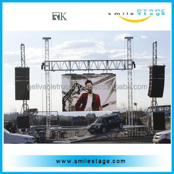 Easy Install Concert Stage Roof Truss Design Software   Buy Concert Stage Roof  Truss,Truss Design Software,Easy Install Stage Lighting Truss Product On ...