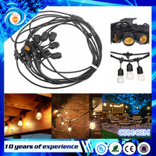 230V outdoor use 14AGW PVC cable E27 LED festoon led fairy string belt light for Christmas decoration waterproof