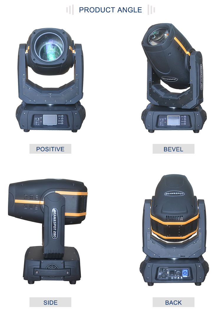 10R 280W 16/24CH Moving Head Beam Wash Spot Light Touch Screen DJ Disco Club On Tour Concerts Party Wedding TV Studios Stage