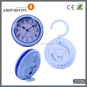 5 Inch Plastic Hanging Bathroom Shower Clock With Waterproof