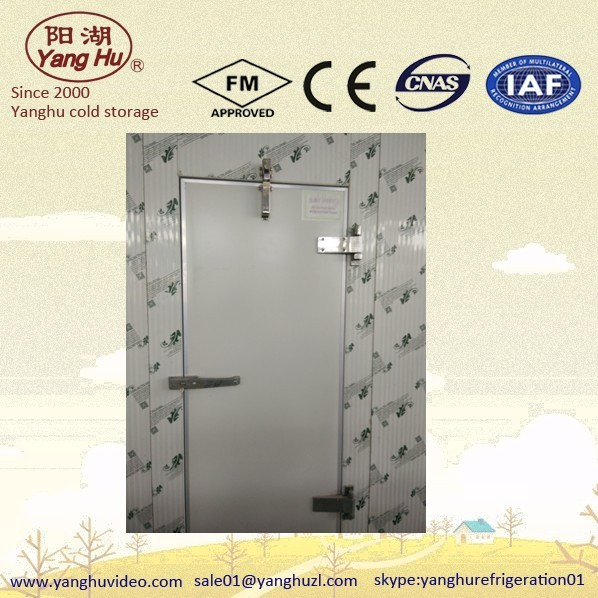Low temperature application cold storage swing door