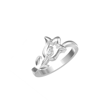 Destiny Jewellery rose ring silver jewellery with white gold plated for child for lady