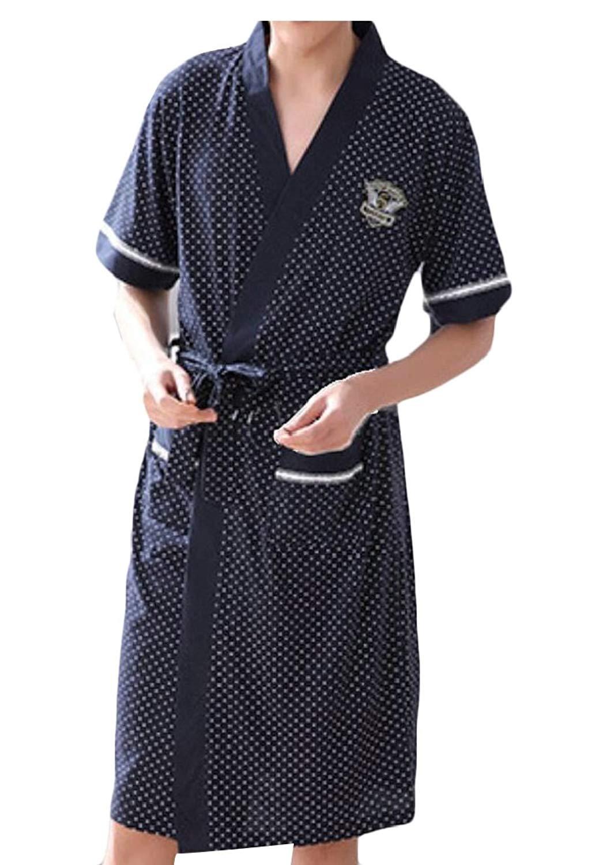WSPLYSPJY Mens Long Sleeve Satin Kimono Robe Lightweight Pajamas