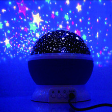 2017 Amazing night baby lights for children projectable night lights with moon star sky nightlight