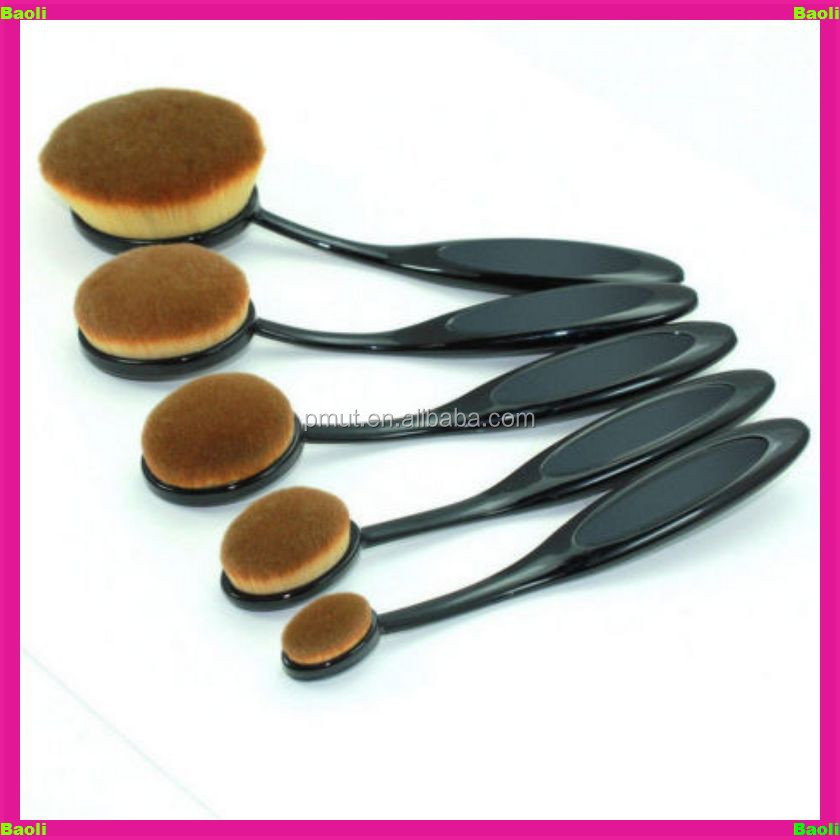 Bl-lq284 High Quality Synthetic Hair Oval Toothbrush Makeup Brush ...
