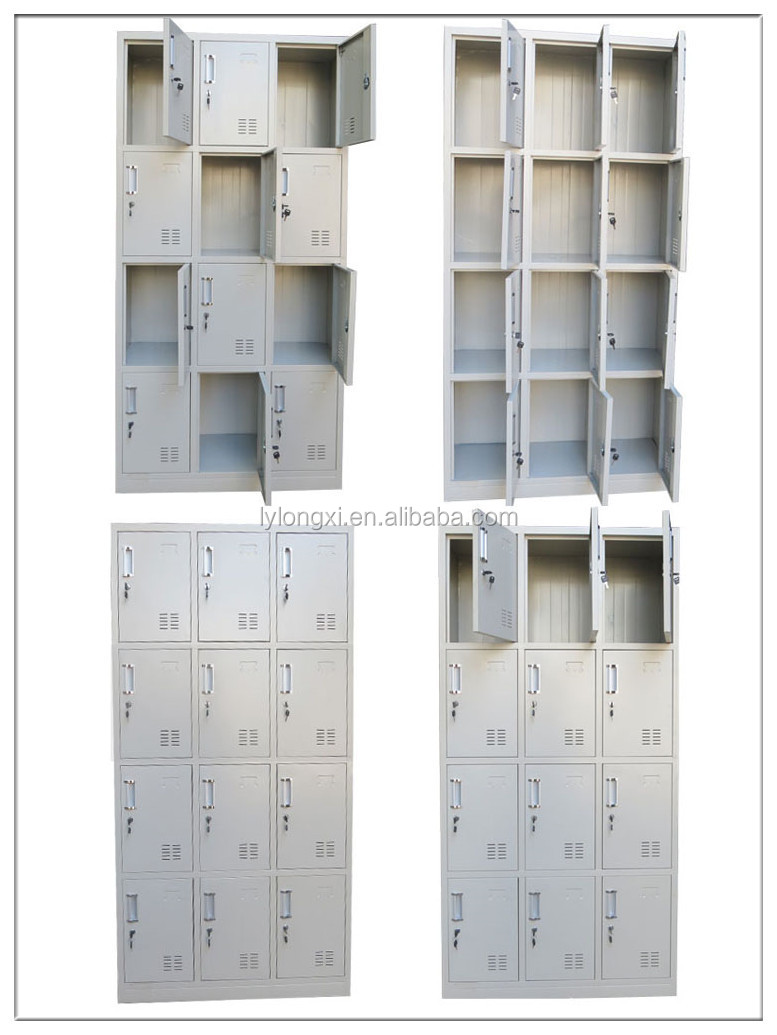 TWELVE doors knock down steel shoes locker, shoe display cabinet,coin operated locker