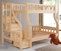 Solid Wood Children Bedroom Furniture Kids Bunk Bed