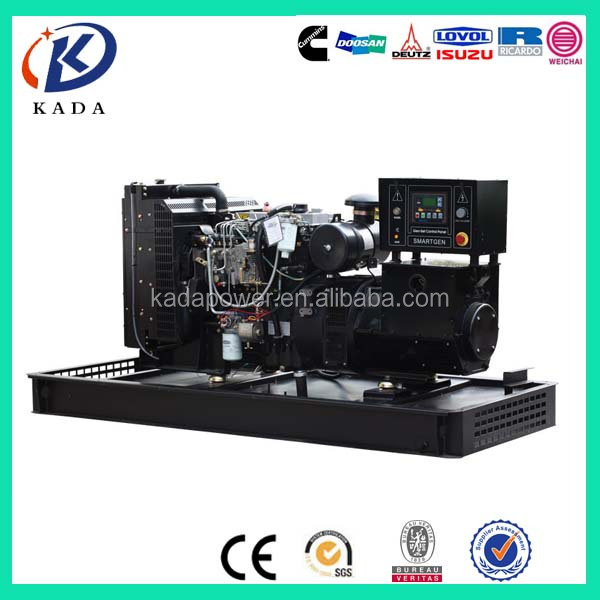 Single or three phase 1500rpm diesel low rpm 20kw generator