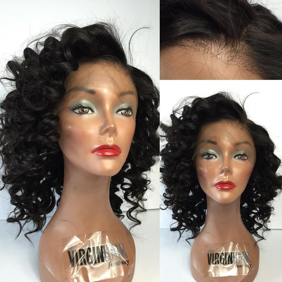 Can be dyed 9A+ wholesale alibaba rose wig side part kinky curl texture