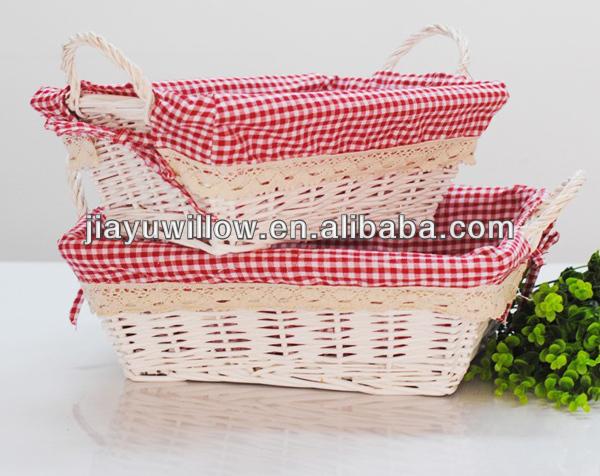 Tecido cesta do salgueiro retangular cesta de vime cestas - Cestas de mimbre pequenas ...