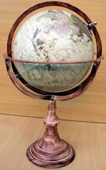 Office Desk Decor Large World Globe, Modern Marine Large World Globe, Large  Globe With