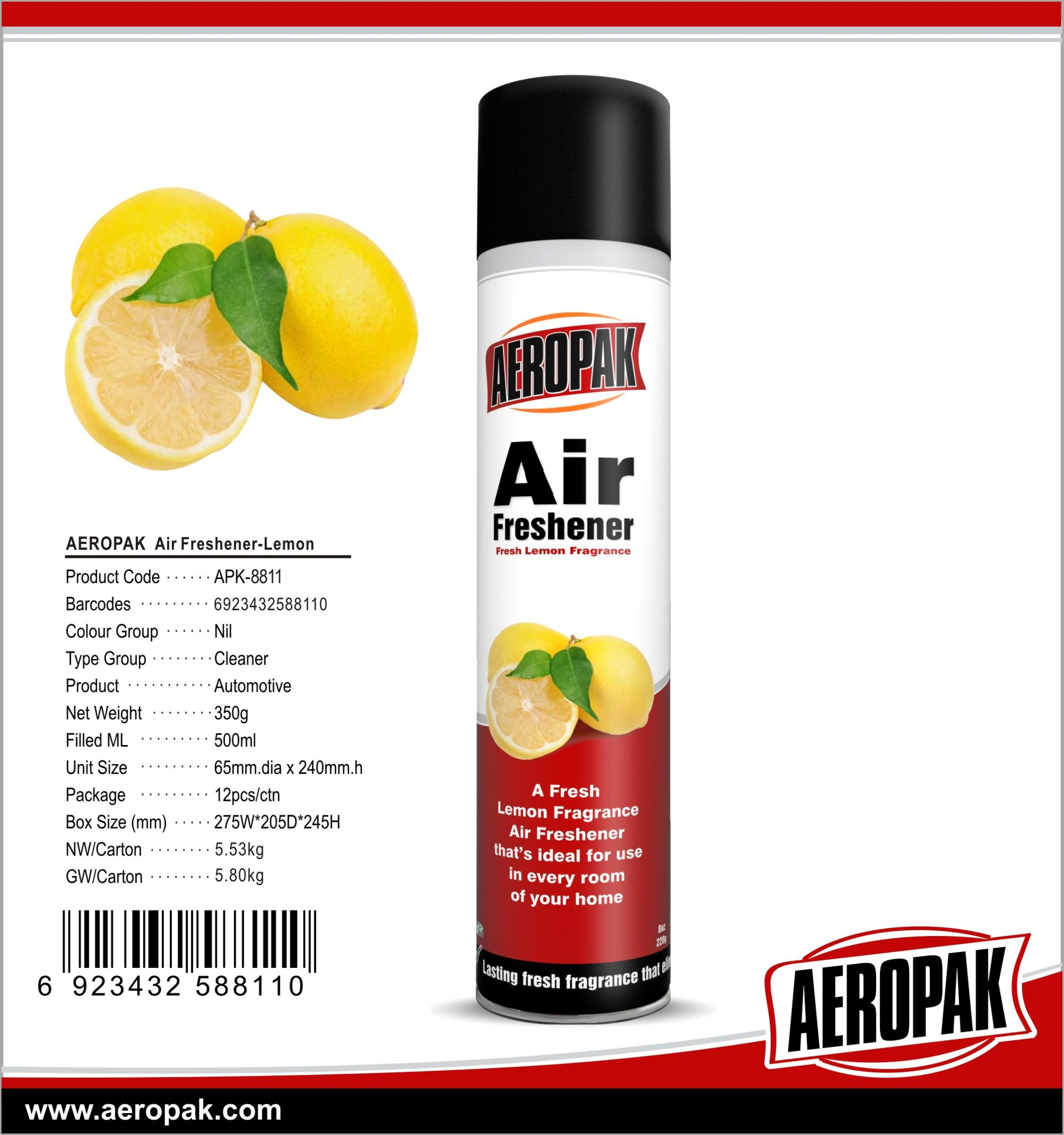 AEROPAK 500ml Air Refresher with many fragrance