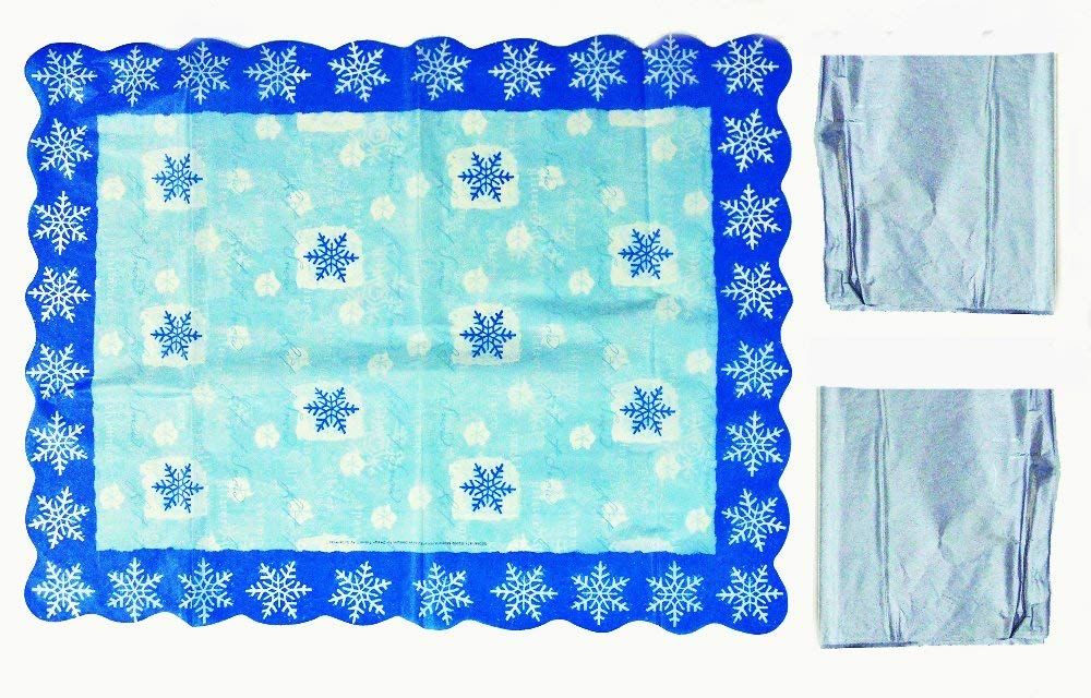 Gift Wrap Tissue Paper - Deluxe Die Cut Snowflake Tissue Paper - 8 Sheets