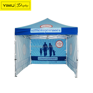 Full color printing folding canopy/ Pop up tent 3x6 with half wall