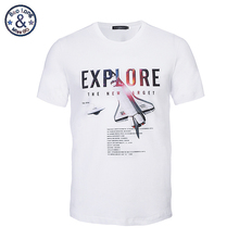 2017 fashion design men's clothing 3D white cotton t shirt