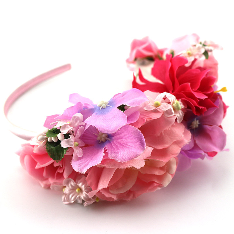 Get Quotations · Korean Fashion Fancy Hairband With Flowers Fabric Hair  Bands For Women Lady Kids Students Party Gifts e14886d105f