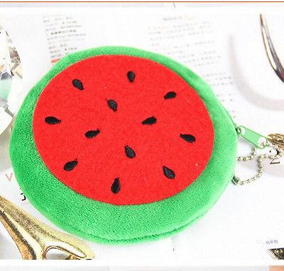 Новые милые женщины фрукты мягкие плюшевые мини монета портмоне кошелек молнию сумки кошелек сумки