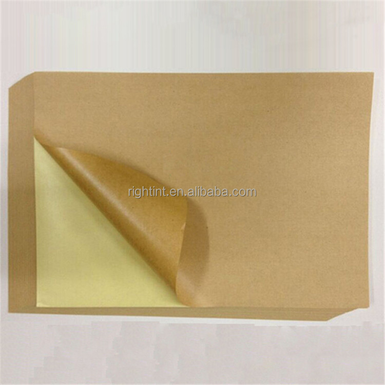 2016 self adhesive kraft paper <strong>rolls</strong> for label printing