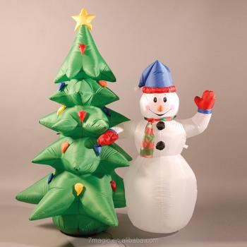 Gonfiabile 180 cm 6ft pupazzo di neve e albero di natale for Albero natale gonfiabile