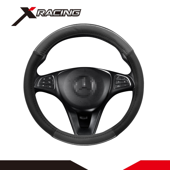 Custom design your pu car steering wheel cover/ universal 15 inch steering wheel cover wholesale