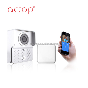Hot sale 2015 ACTOP smart security camera wireless gate intercom,support to answer door bell on smart phone
