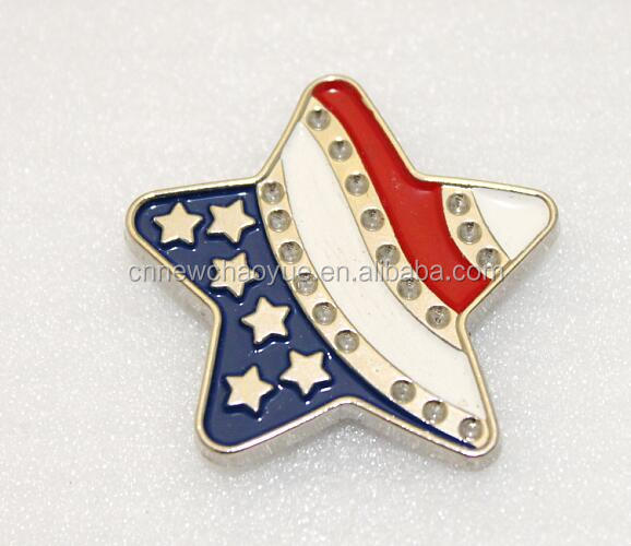 Paint color star shape western concho for cowboy/cowgirl's belt