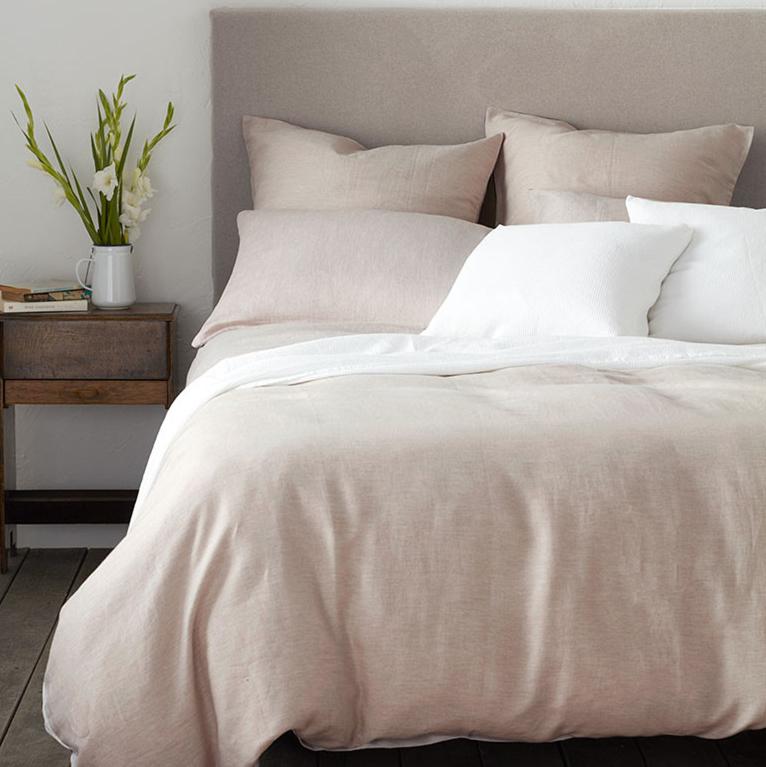Luxurious Linen Bed Sheets Natural Flax Linen Bed Sheet Set