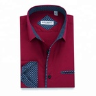 Get Free Sample contrast color collar and cuff smart casual custom slim fit dress shirt