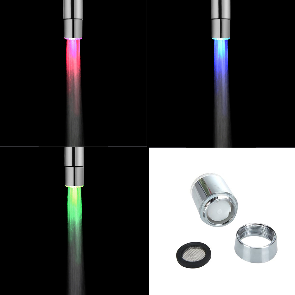Abs Material Single Handle Upc Led Light Kitchen Faucet With ...