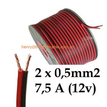 20awg 0.5mm2 Rot Schwarz Dual Core Elektrische Kabel Draht Für Auto ...