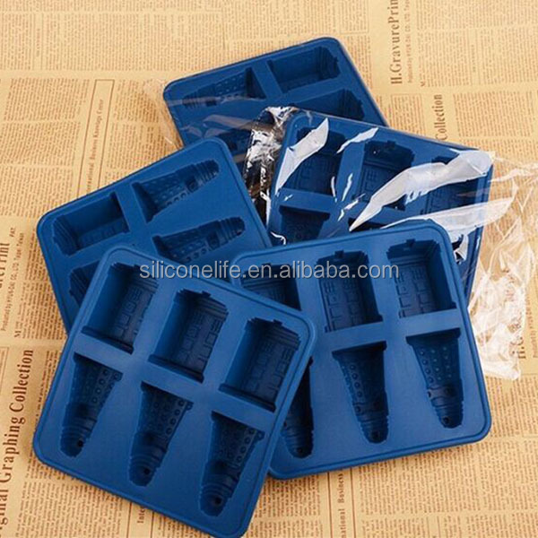 Doctor Who Ice Cube Tray Tardis Dalek Safe Silicone DIY Chocolate Jelly Mold