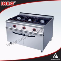 SS 304 Commercial outdoor gas cooker/electric stove 3 burners
