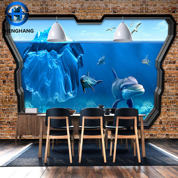 Wall Mural Decorations 3d Ceramic Wall Tile Dolphins Picture 3d Tile