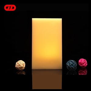 Personalized wax square led flameless candle lights for window table top flameless candles with timer