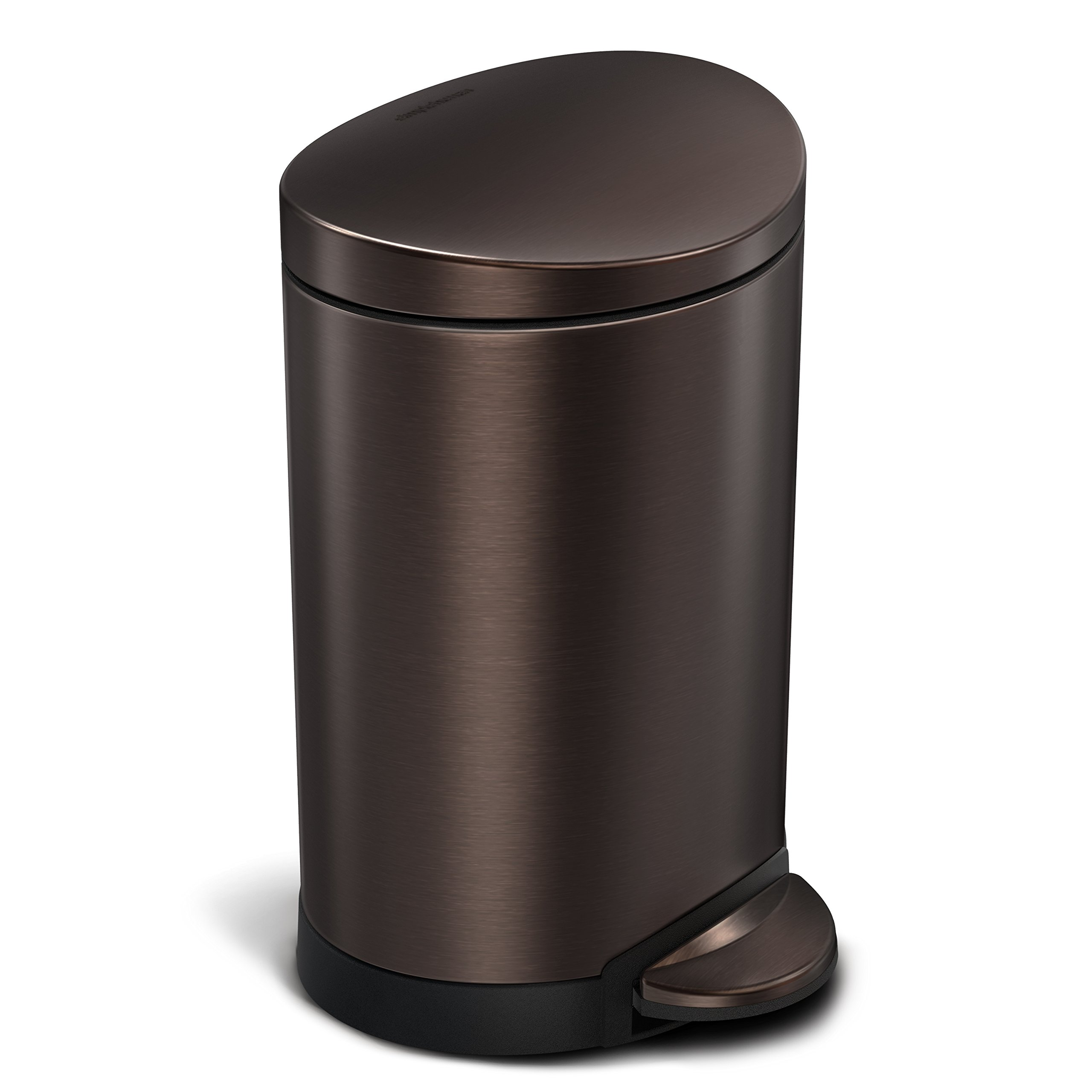 Step Trash Can Bathroom. Get Quotations  C2 B Liter 1 6 Gallon Stainless Steel Compact Semi Round Bathroom Step Trash Can