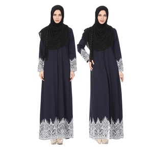 2018 New Middle East/Turkish/Moroccan style High Quality Muslim Woman Dress Ethnic Region Abaya Open Front Abaya Dress
