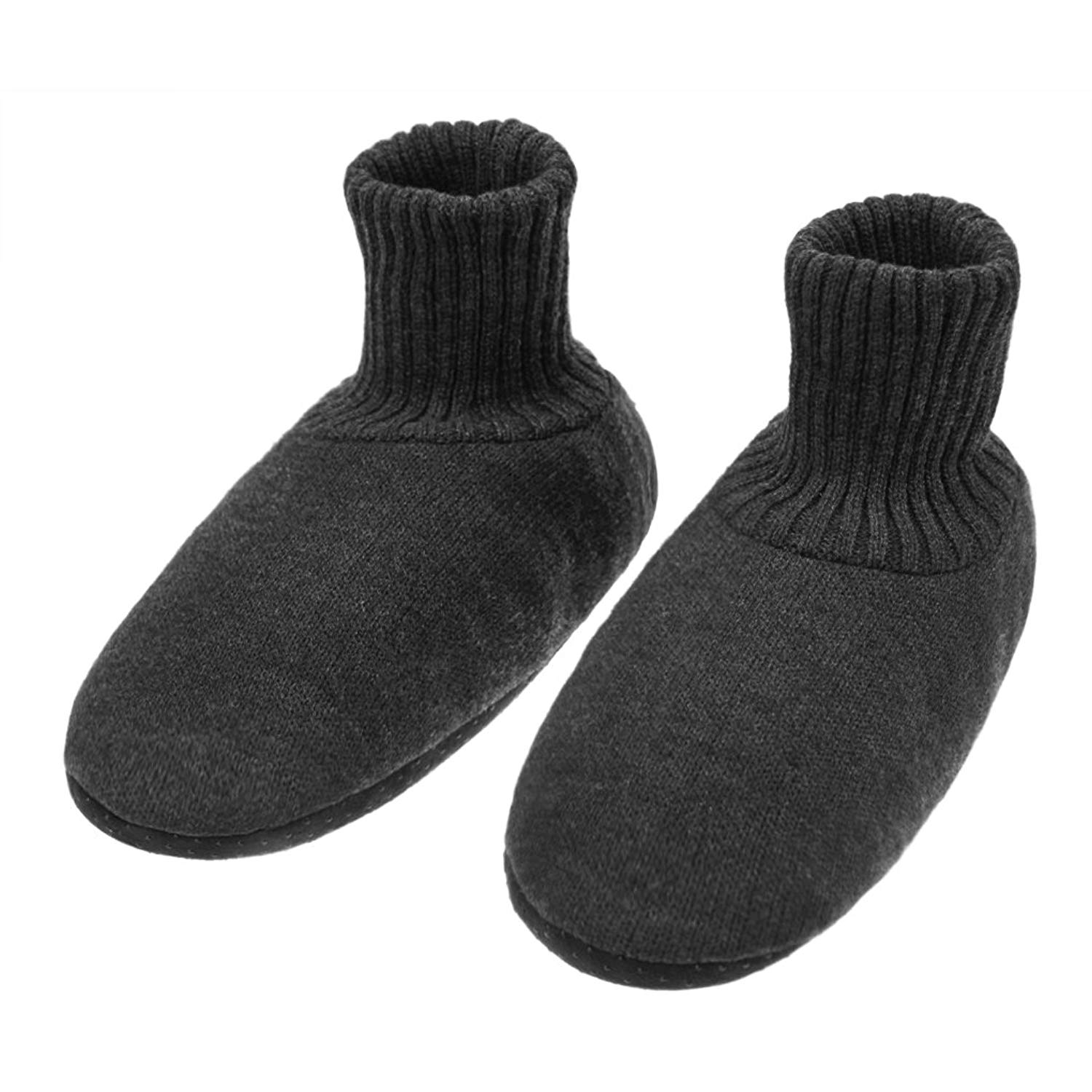 9f41bd529173 Winter Warm Cozy Slipper Socks for Women Men Soft Thick Fleece Lined Cable  Knit Indoor slippers